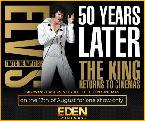 Event poster with Elvis impersonator